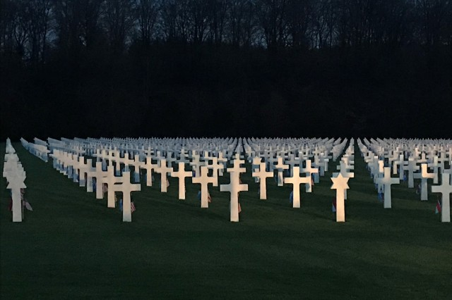 More than 5,000 U.S. service members who fought in the Battle of the Bulge are buried in the Luxembourg American Cemetery.