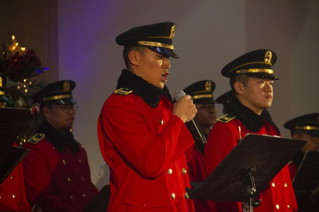 The Korean Army's 3rd Military Academy Band performed at the Christmas Cantata Dec. 14.