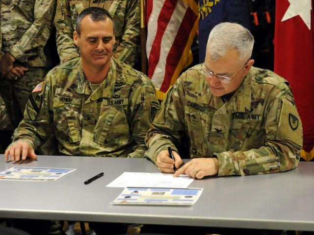 ACFT Equipment ceremonial signing