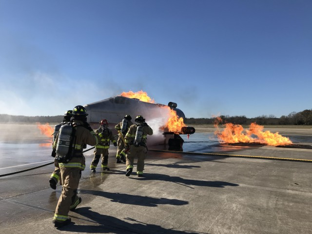 Lawson Army Airfield aircraft fire training