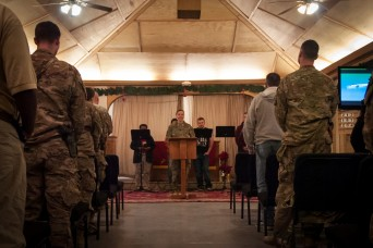 Deployed Service Members Celebrate Christmas Eve on Kandahar Airfield