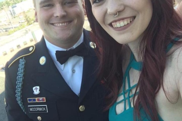 U.S. Army Spc. William McCormick and wife Alexandria. (U.S. Army photo courtesy Spc. William McCormick)