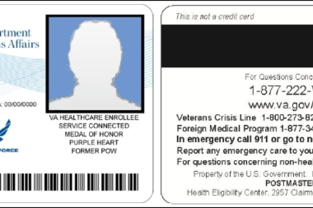 Above is a look at the new Veterans Health Identification Card, or VHIC.