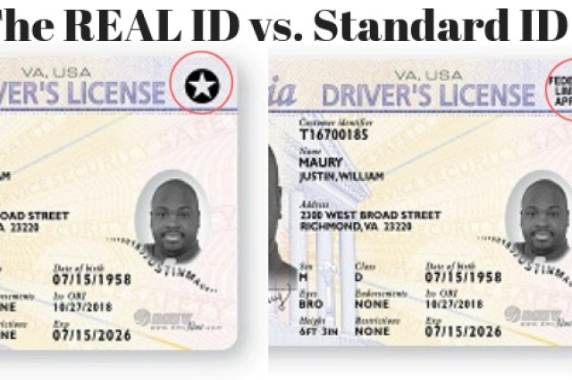 "The Real ID Driver's License is required for motorists in Hawaii in October 2020. It is distinguished from a regular ID by a ""star"" in the upper right hand corner. It may be used to help get a Controlled Access Pass, or CAP, for entry onto installations."