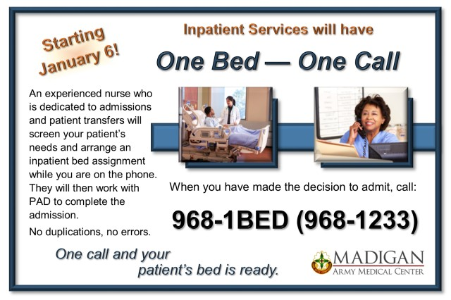 One bed - one call
