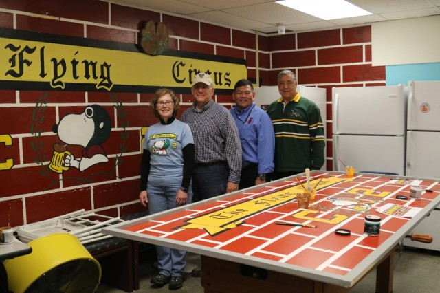 Members of the Class of 1981 return to the C2 Circus to strengthen the Long Gray Line and help recreate the murals they originally painted in the cadet area.