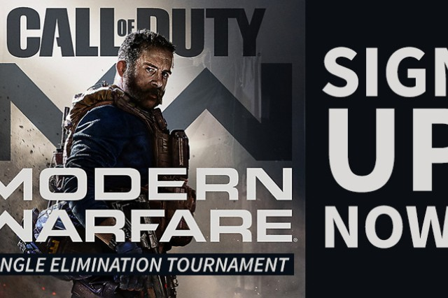 Fort Knox Directorate of Family and Morale, Welfare and Recreation is hosting a Call of Duty Modern Warfare single-elimination gaming tournament at Long Recreation Center Jan. 11, 2020, 11 a.m. -- 1 p.m.