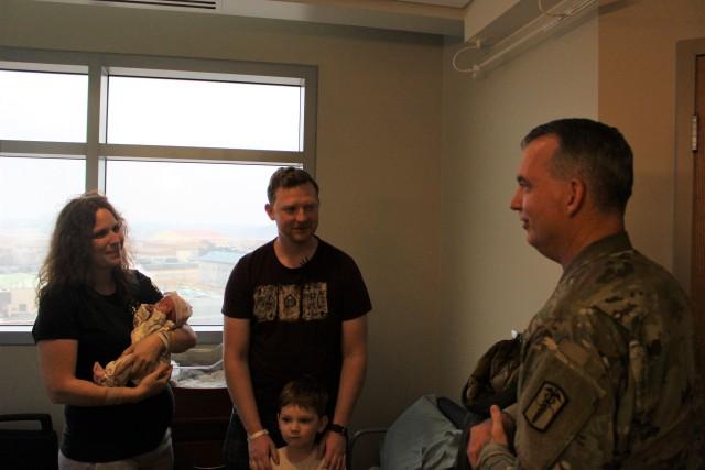 Hospital Commander Congratulates the Barger family