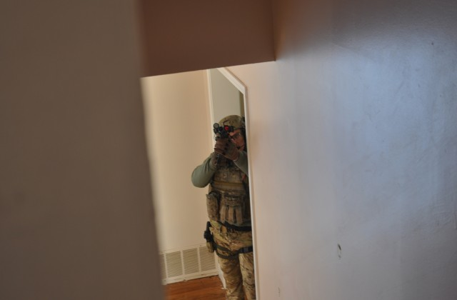 CEMLEC operator posts up at a security point during training