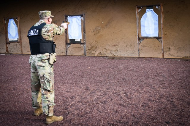 USAG Ansbach military police train and qualify with the new Modular Handgun System