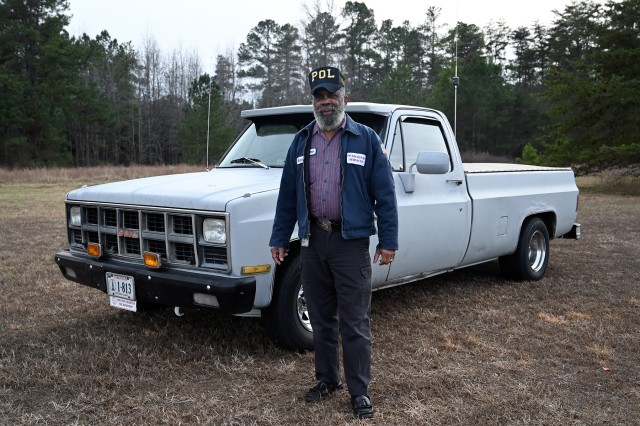 Richard Harris served at Fort A.P. Hill, Virginia for 45 years, starting out setting up tents and finishing as the Petroleum, Oils and Lubricants Section Chief for the Directorate of Logistics. He retired on Jan. 3, 2020. Among his retirement projects is keeping his 1972 GMC pick up truck, shown here, running smoothly.
