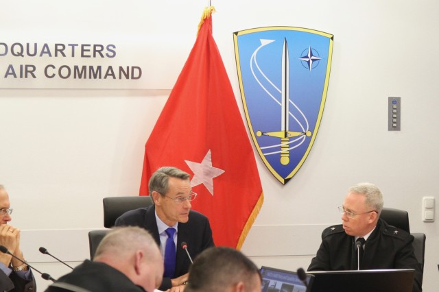 The 10th Army Air and Missile Defense Command hosted the European Integrated Air and Missile Defense Conference at NATO Allied Air Command Headquarters at Ramstein Air Base, Germany January 14-15.