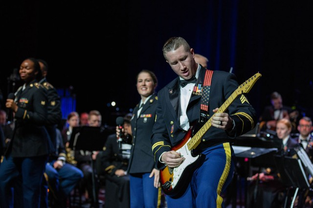 The U.S. Army Europe Band and Chorus performs for Polish audiences alongside Polish military musicians during several events on their holiday tour in Poznan, Poland, Dec. 17 and 18, 2019.
