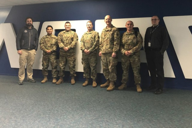 The group from the Washington National Guard's Homeland Response Force and employees from the National Oceanic and Atmospheric Administration's Western Regional Center met Jan. 9, 2020, to exchange information about responding to emergencies.