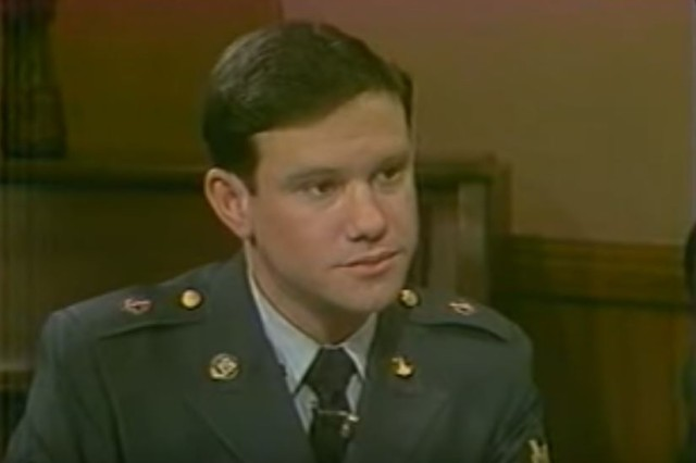 """In the years before live satellite and Internet news sources, Spc. Charlie Gill was just one of the many faces of America as the anchor for """"AFN Europe Evening News."""" He helped deliver the news to more than half a million Americans serving in the region. Gill served 10 years in the military and later retired from his position at the AFN Broadcast Center in Riverside, California Dec. 31, 2019."""