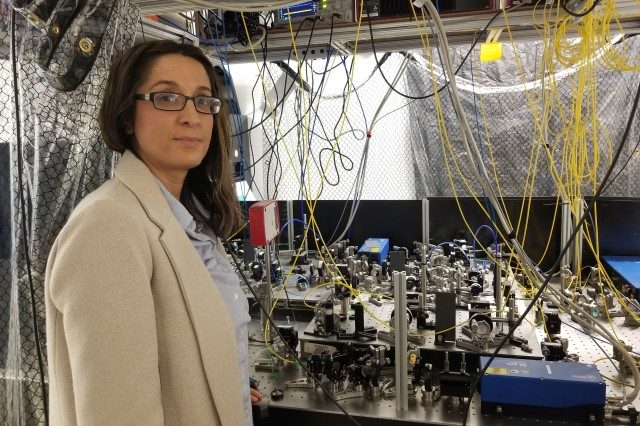 Army physicist Dr. Qudsia Sara Quraishi works with a University of Maryland research team to develop new quantum network synchronization tools.