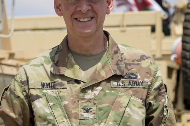 Col. Kirk White, the officer in charge of Task Force Spartan-Jordan.