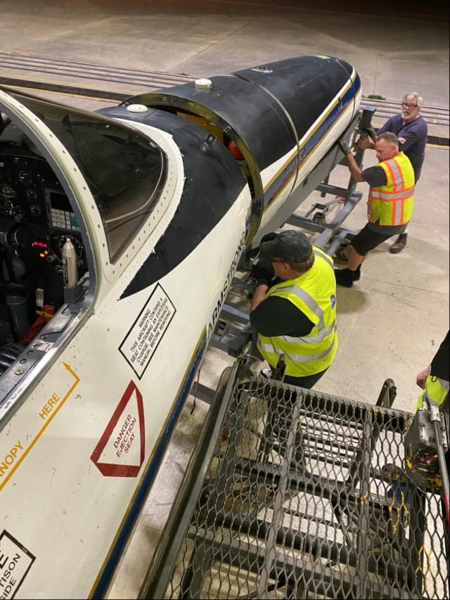NASA research plane visits Hunter