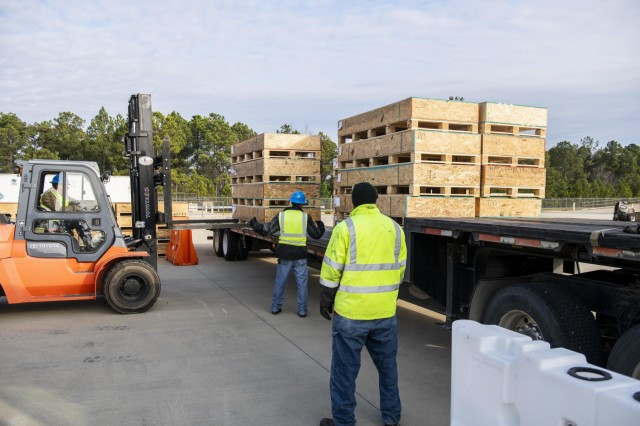 Trucks deliver ACFT gear to Fort Benning, helping troops prep for new fitness test