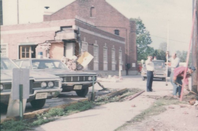 In 1973, a disgruntled Soldier stole a tank at Fort Knox and took it for a joyride, running into the corner of the fire station nearest the street. He left a gaping hole at what was the police station after being angry at the police for supposedly causing him to lose his security clearance.