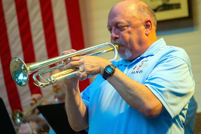 Clay Beard, a former U.S. Army bugler and member of the West Point Band for over 28 years, also performs with the Hagerstown Municipal Band. He retired from the Army at the rank of Sergeant Major in 2011. (Photo courtesy Clay Beard)