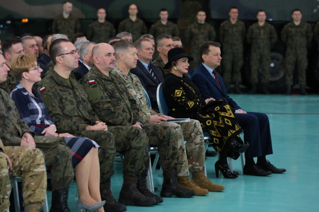 NATO allies gather for the Defender Europe 20 strategic planning workshop in Warsaw, Poland, on Jan. 30, 2020. Participating in the workshop were service members and governmental staff from Poland, United States and other NATO partners.