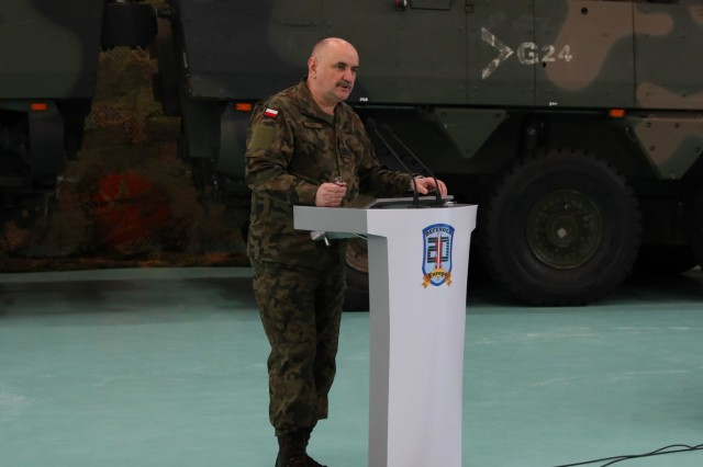 The General Commander of the Polish Armed Forces in Warsaw, Gen. Jarosław Mika, addresses the attendees of the strategic planning workshop in Warsaw, Poland, on Jan. 30, 2020. Defender Europe 20 is the largest deployment of U.S.-based forces to Europe for an exercise in more than 25 years.