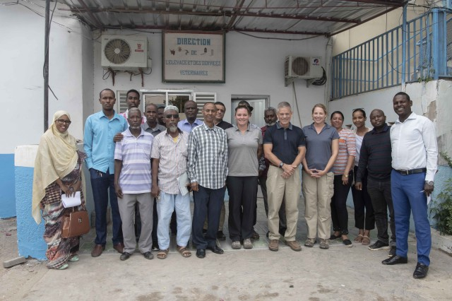 411th CAB veterinarians host seminar for Djiboutian veterinarians and sanitary inspectors
