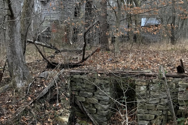 A root cellar was discovered during the visit to the second-story home.