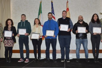 USAG Italy professionals recognized for completing first Developmental Assignment Program