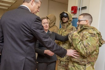 Massachusetts Governor Charlie Baker visits CCDC Soldier Center
