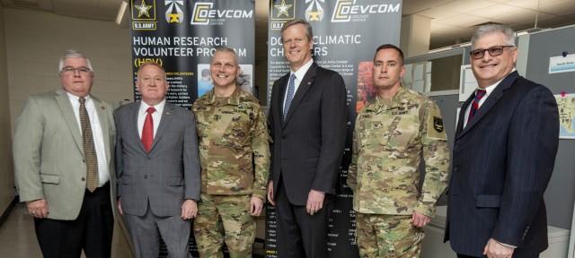 Governor Baker visits CCDC Soldier Center