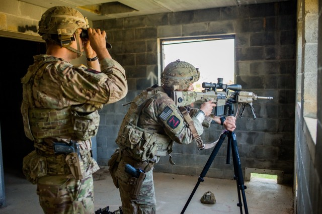 FORT BENNING, Ga. -- In an October 2018 photo, a team of U.S. Army snipers compete at Fort Benning during the International Sniper Competition. This year that competition will be part of Fort Benning's prestigious annual Infantry Week, which runs April 14 - 20 and includes, besides the International Sniper Competition, the Best Mortar Competition, the All Army Lacerda Cup Combatives Competition, and the Best Ranger Competition. Infantry Week is known for its exacting standards and often grueling physical demands, in which competitors vie under high-pressure, combat-like conditions for best-in-their-field honors. The public is invited to attend.
