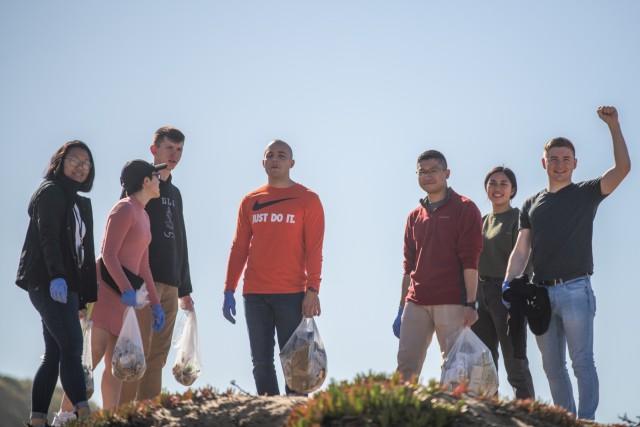Navy, BOSS restart beach clean-up