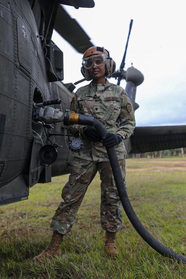 Aviation Brigade practices