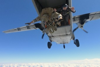Airborne test jumpers apply risk reduction tests before equipment tests begin