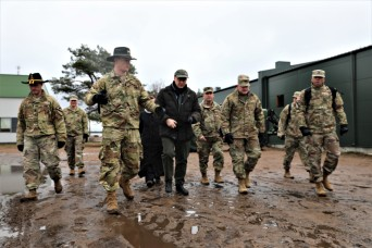 U.S. Ambassador to Lithuania Visits 1-9 CAV's Combined Arms Live Fire Exercise