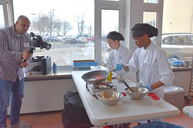WIESBADEN, Germany -- Students from Department of Defense Education Activity-Europe schools participate in the Culinary Arts Festival of Europe Feb. 12 at Army Community Service.