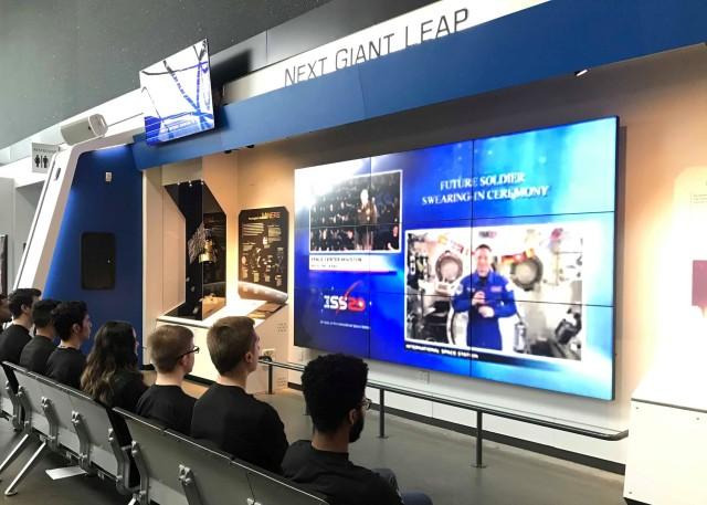 Future service members sworn in by astronaut