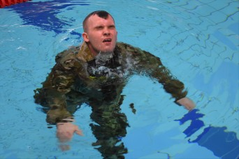 Public Health Command Europe Soldiers compete in Best Warrior Competition