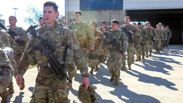 Paratroopers with the 1st Brigade Combat Team, 82nd Airborne Division