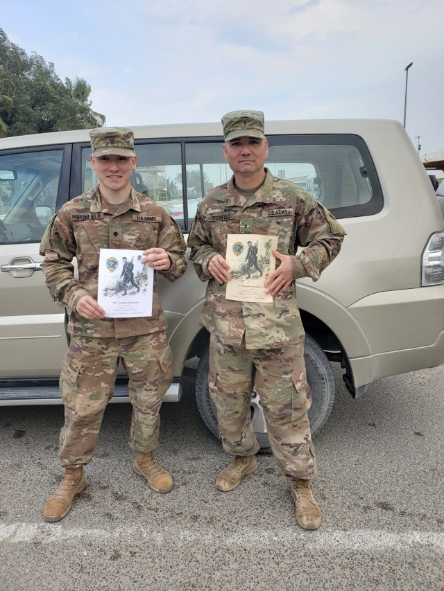 Father and son complete Norwegian Foot March together while deployed
