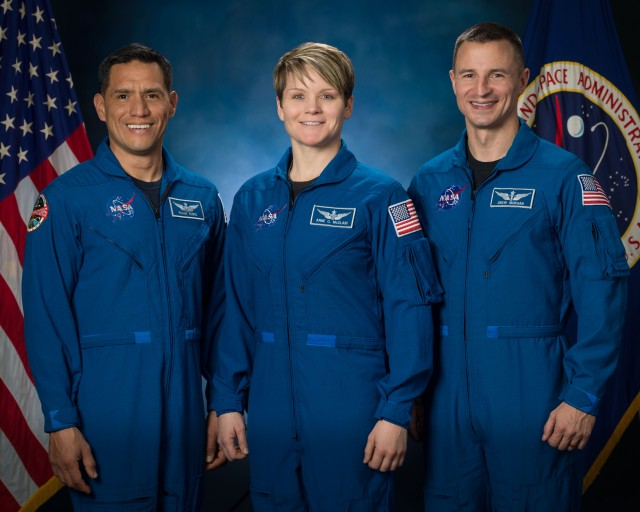 Army astronauts Maj. Frank Rubio, Lt. Col. Anne McClain and Col. Drew Morgan. The Army is currently accepting applications from soldiers interested in being the next astronaut.