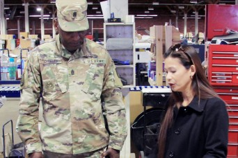 TACOM senior enlisted advisor makes first visit to Sierra Army Depot