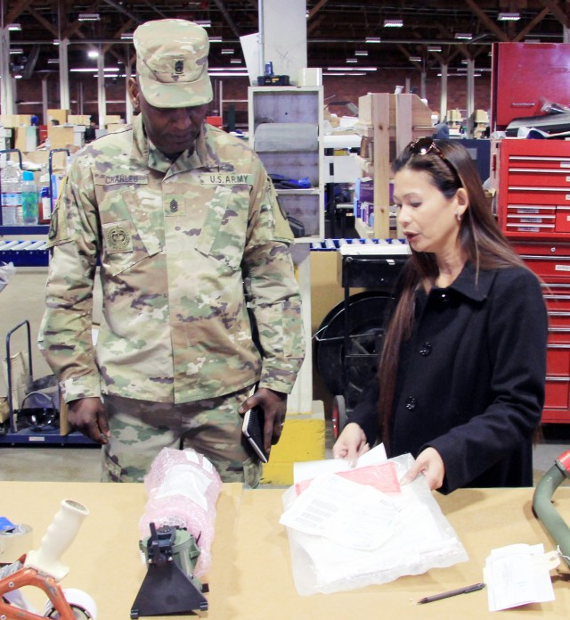 TACOM senior enlisted advisor makes first visit to Sierra Army Depot
