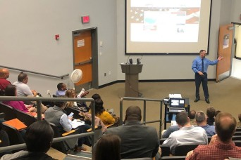 Businesses from outside the Fort Stewart and Hunter Army Airfield gates and across the nation, as far as Texas, visited the Sgt. 1st Class Paul R. Smith Army Education Center, Feb. 6, for an opportunity to learn about the installations during a Small...