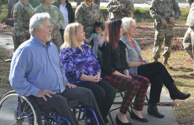 Fort Stewart honors retired MSG Lewis with a garden dedication