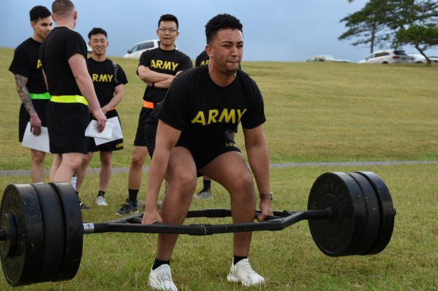 Public Health Command - Pacific Soldiers compete in Best Warrior Competition