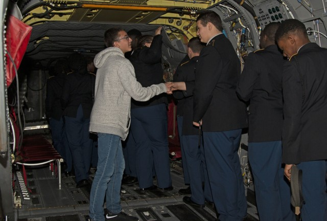 Chatham Co. JROTC cadets take a tour for their futures