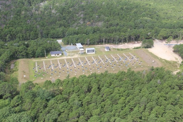 The EPA shut down all 40 ranges at Camp Edwards in 1997 because they thought that Army training would further contaminate the sole source of drinking water for Cape Cod.   Echo range (photo 4) is a Military Pistol Qualification Course and (photo 5 and photo 6) Sierra Range, is an Army Record Fire (ARF) Range.  These ranges are 2 of the 7 ranges that have been successfully reopened because of the IAGWSP. There is a MILCON project this Year 2020 to build a new Multipurpose Machine Gun (MPMG) range with two more range projects in the near future, all possible because of the work done by the IAGWSP.
